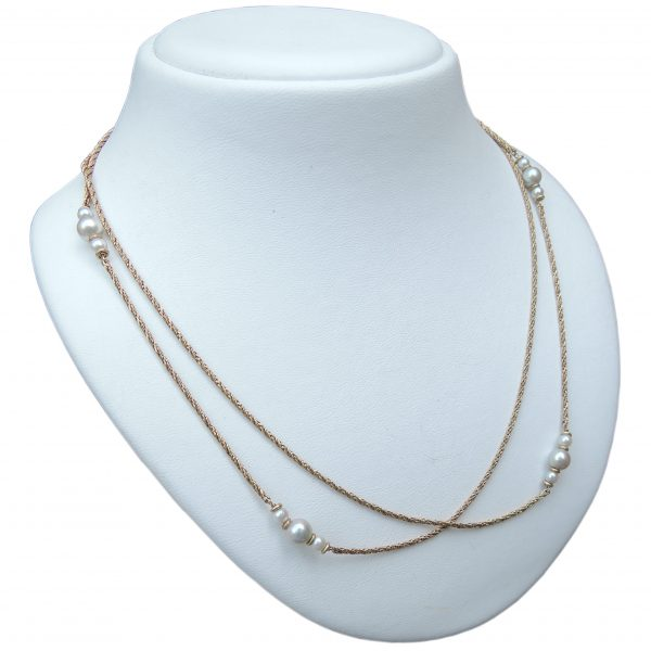 Collier, Grossé, Parel, 14K Goud