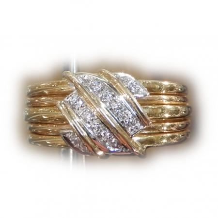 Band Ring, Diamant, 18K Goud