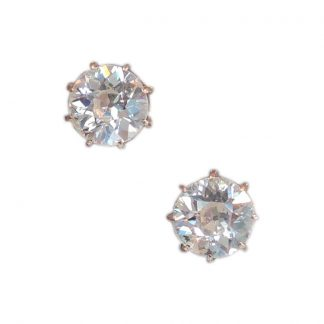 Oorstekers, Solitair, Diamant, 0,64 ct. 14K