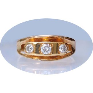Ring, Diamant, 0,32 ct., Wit, VSI-1, 14K Goud