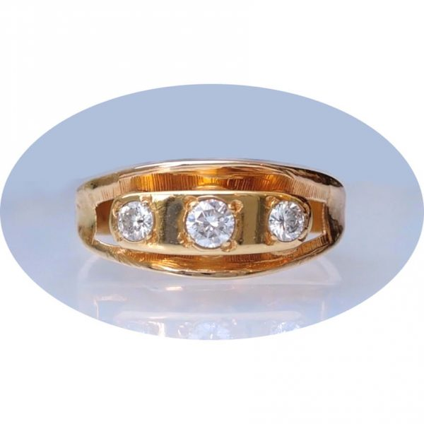 0,35 ct. diamant, wit, VS1, ring, 14krt. goud