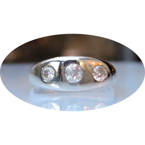 0,40 ct. diamant, 18krt. wit gouden ring