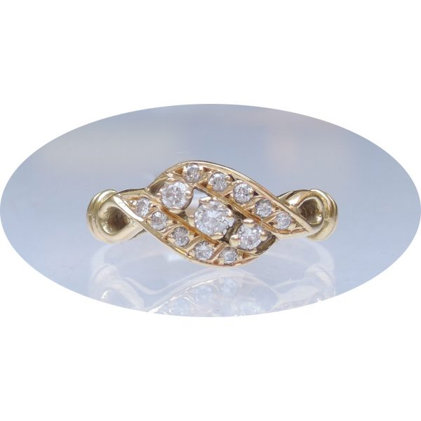 0,35 ct. diamant, 18K gouden ring, occasion