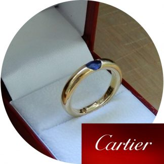 Cartier, Ring, Ellips, Saffier, 18K Goud