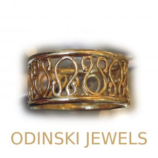 Odinsky Band Ring, 14K Goud