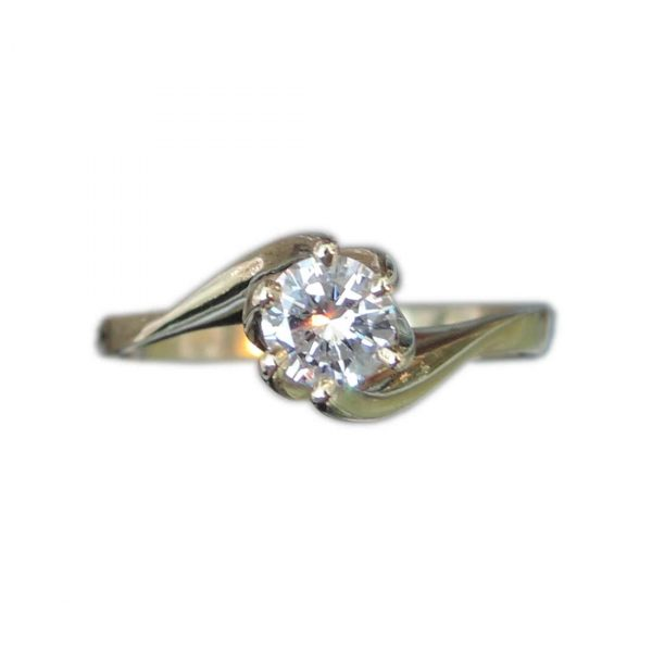 Solitair Ring, 0,28 Ct, Diamant, F, IF, 14K