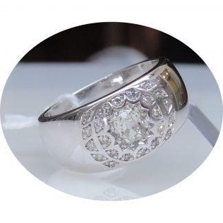 Ring, Diamant, 0,50ct, Bolsjewiek, 18K Witgoud