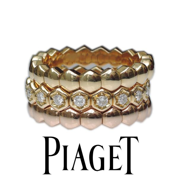 PIAGET Ring Alliance, diamant,0,54 ct. 3-delig, 18K