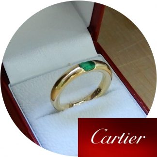Cartier, Ring, Ellips, Smaragd, 18K Goud