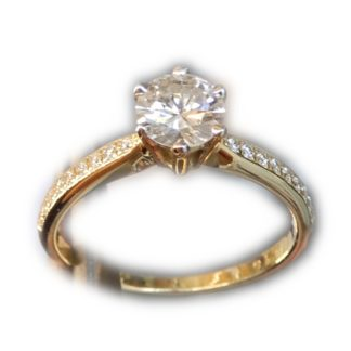 Ring, Solitair, Diamant, 0,60 ct, 14K Goud