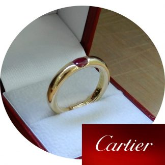 Cartier, Ring, Ellips, Robijn, 18K Goud
