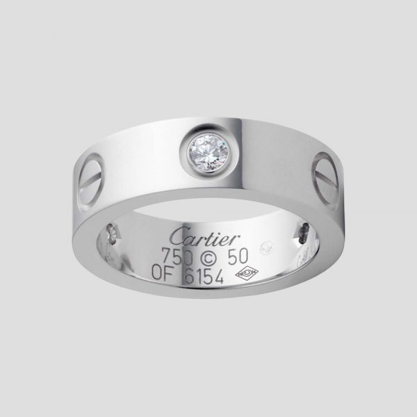 CARTIER LOVE, 0,24 ct. diamant, band ring, 18K