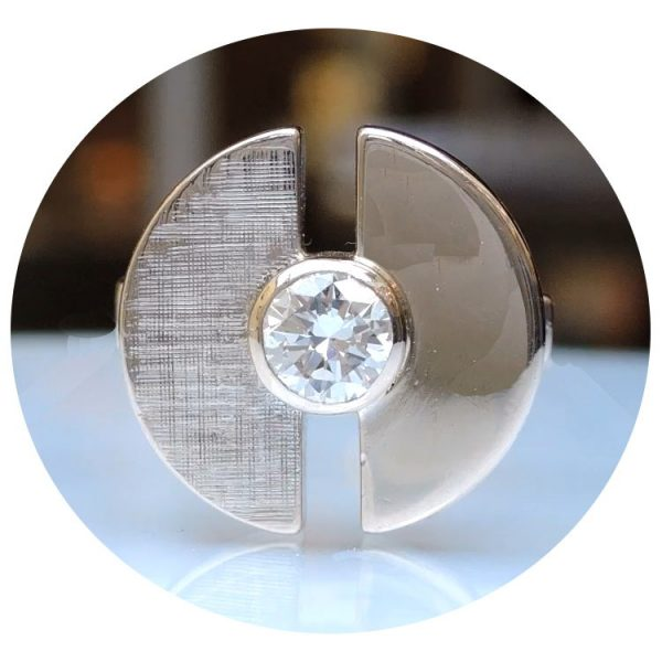 Ring, Diamant, 0,45 ct., 14K Witgoud